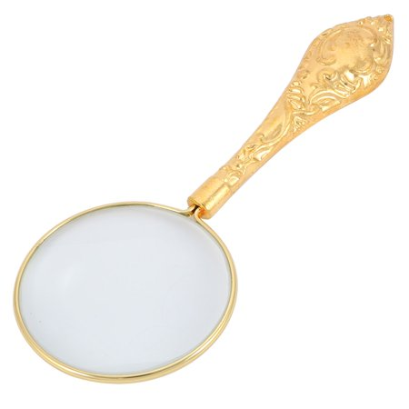 (Cameo Handheld Magnifier Magnifying Glass Reading Book Illuminated Magnifier 5X)