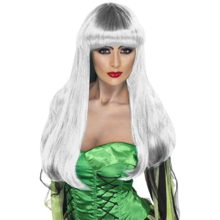 Glamour Witch White Adult Costume Wig (White Wig Costume)