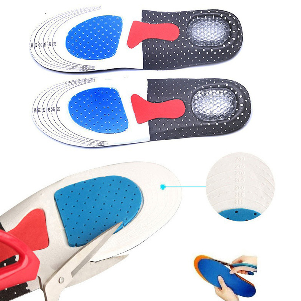 Details about  /Gel Orthotic Sport Running Insoles Insert Shoe Pad Arch Support Cushion Men