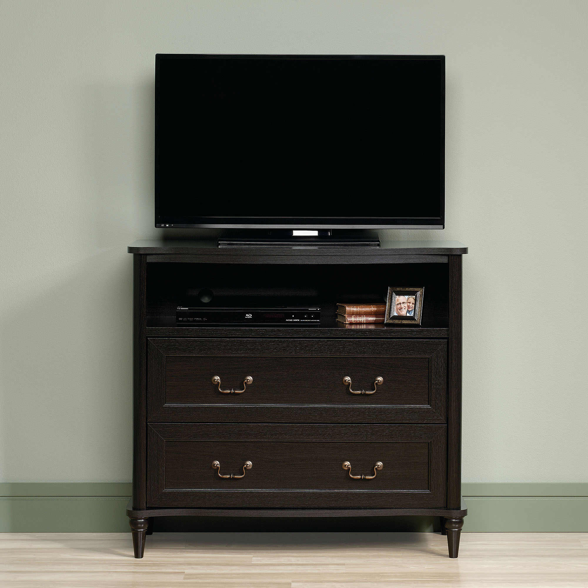Sauder Wakefield Wind Oak Highboy TV Stand for TVs up to 42""