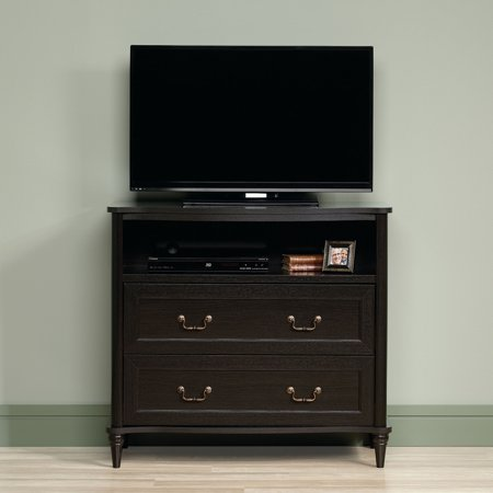Sauder Wakefield Wind Oak Highboy TV Stand for TVs up to 42″