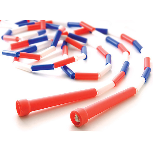 9' Segmented Skip Rope, Red/White/Blue