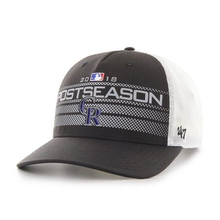 newest 2acd8 bd32c Colorado Rockies '47 2018 Postseason Official On-Field Altitude Adjustable  Hat - Black - OSFA