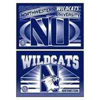 "Northwestern Wildcats 2""x3"" Magnet 2 Pack"