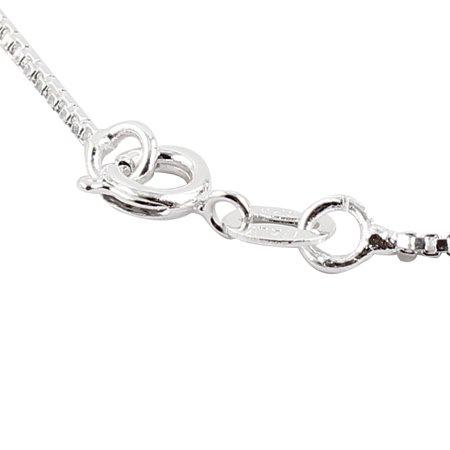 Women Metal Lobster Clasp Link Neck Ornament Box Chain Necklace Silver Tone - image 1 de 2