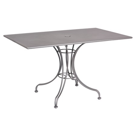 Woodard Solid Top 48 X 30 Rectangular Patio Dining Table With