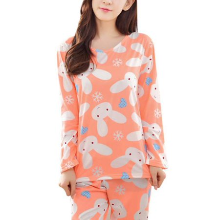 Wear Spring (Women's Casual Long Sleeve Sleepwear Nightwear Pajamas Set Spring Autumn)