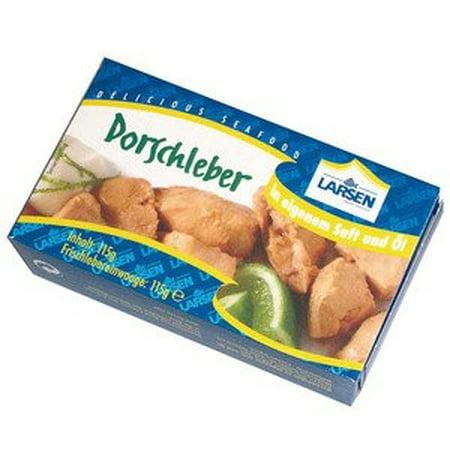 Larsen dorschleber cod liver 115 g 4 1 oz for Cod fish walmart