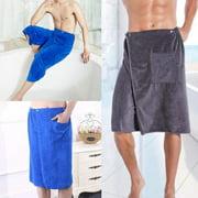Hot Men´s Wearable Bath Sheet Bath Shower Wrap Towel Swimming Blanket Beach Towel with Pocket