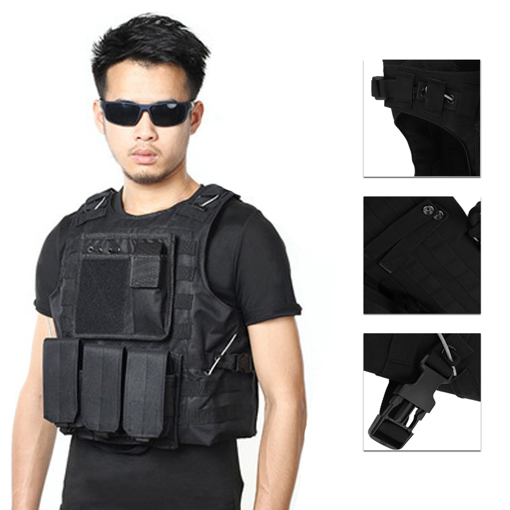 Amphibious Hunting Military Tactical Vest Outdoor Sports Game Jungle Equipment Adjustable Army Vest Black