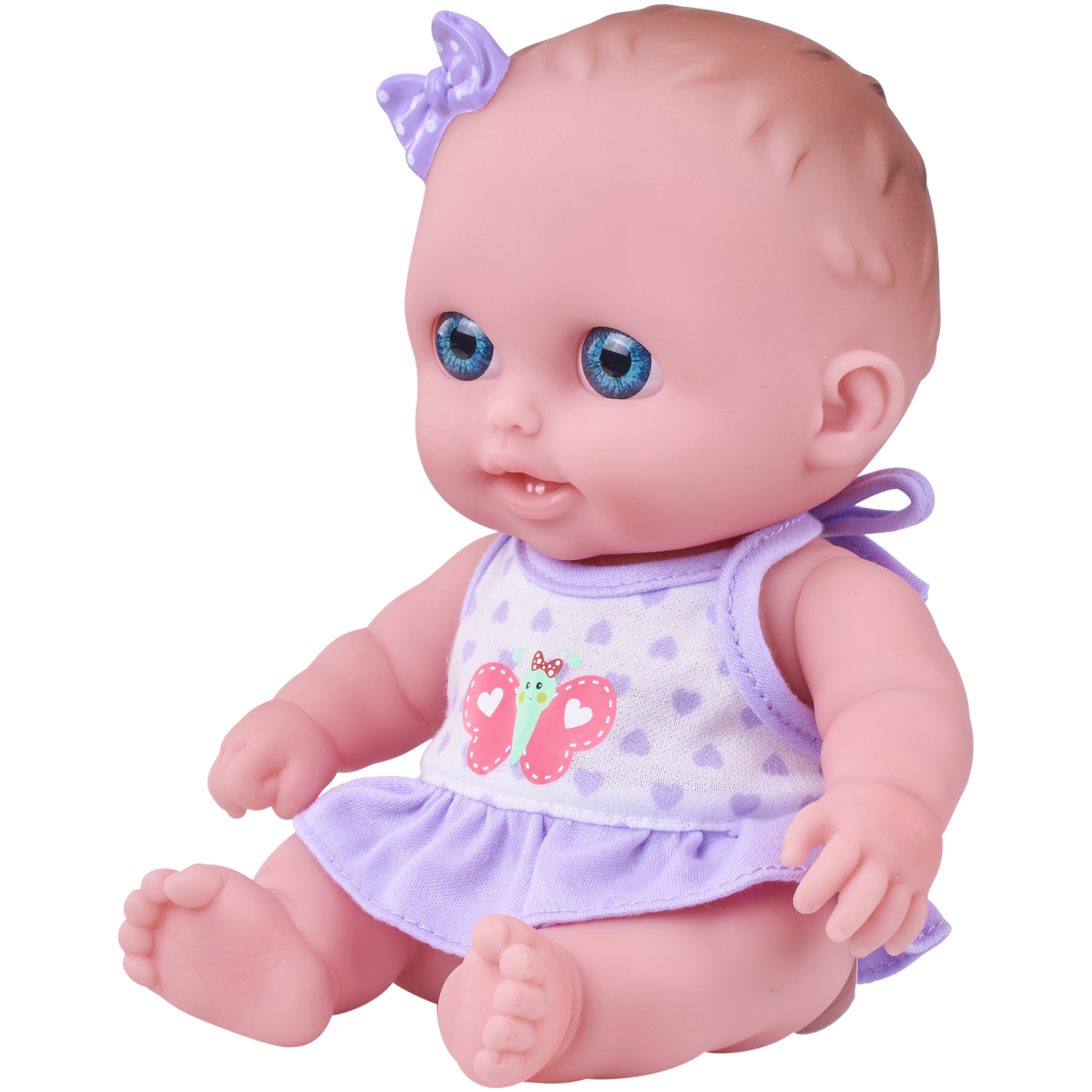 """My Sweet Love Lil Cutsies 8.5"""" Baby Doll with Purple and White Outfit"""