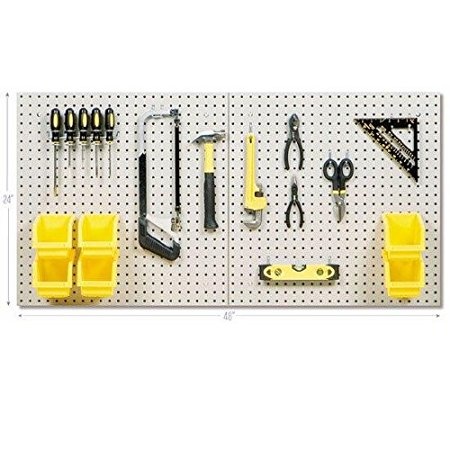 Locking Pegboard Hook - Seville Classics 8 Sq Ft Steel Pegboard Set, UHDK20335