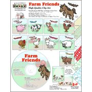 ScrapSMART Farm Friends Clip-Art CD-ROM, Colorful Illustrations for Scrapbook, Craft, Sewing