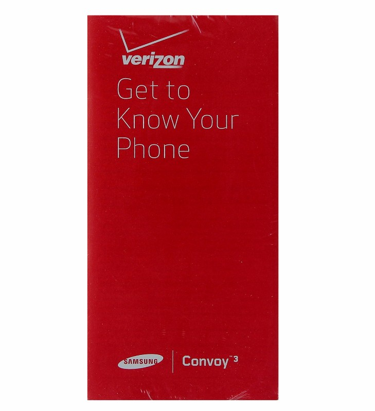 Samsung Convoy 3 Verizon Manual/Consumer and Product Safety Info Pack U680