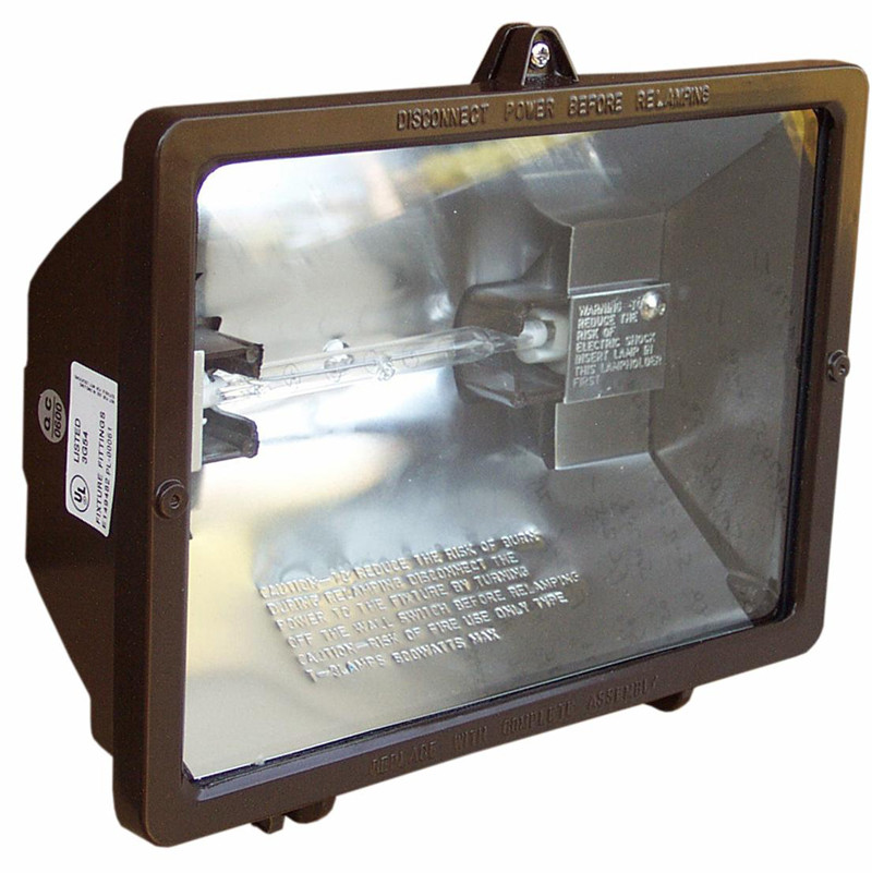 Morris Products 120V 300W Quartz Bronze Floodlight in Bronze