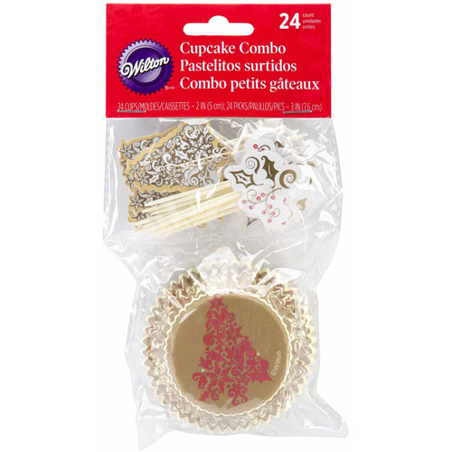 Wilton Cupcake Combo Pack, Holiday 24 ct. 415-0097
