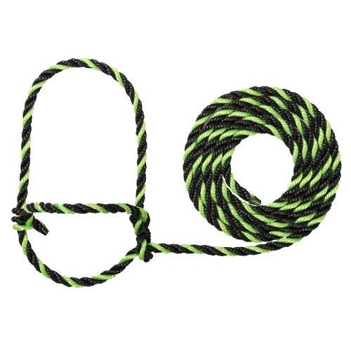 Weaver Leather Rope Cow Halter, Lime/Black