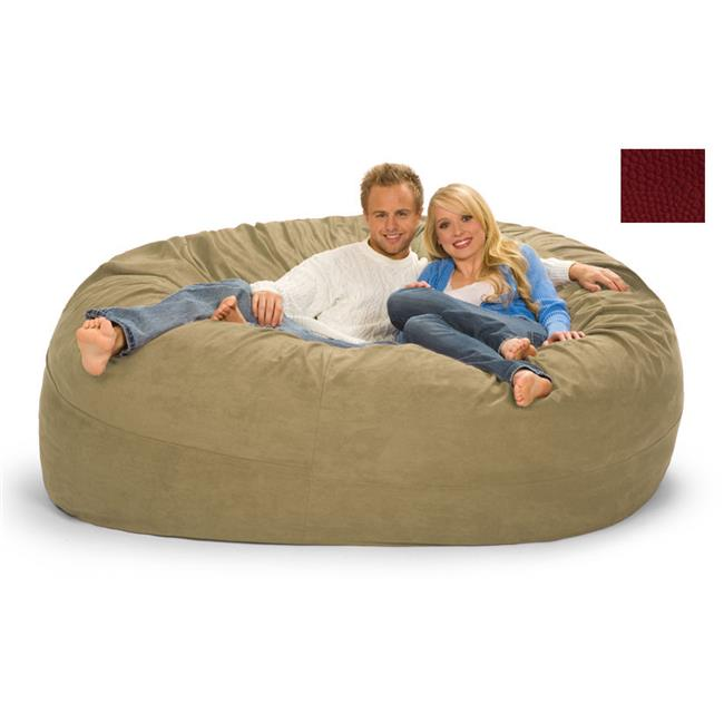 RelaxSacks 7DM-PB002 7 ft. Round Relax Sack - Pebble MicroFiber Rich Red