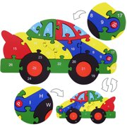 veZve Wooden Alphabet & Numbers Jigsaw Puzzle for Kids 5 to 7 Years Old Boys Car Toy