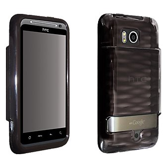 OEM Verizon HTC Thunderbolt ADR6400 High Gloss Silicone Cover for Extended Battery (Black) (Bulk Packaging)