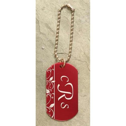Engravable Dog Tag-Red Aluminum