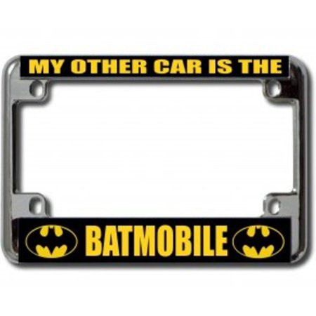 Motorcycle License Plate - My Other Car Is The Batmobile Chrome Motorcycle License Plate Frame