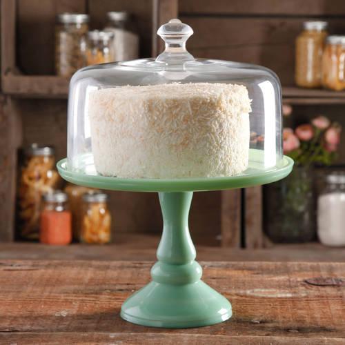 BEAUTIFUL PEDESTAL COVERED CAKE PLATE DOLL HOUSE MINIATURE