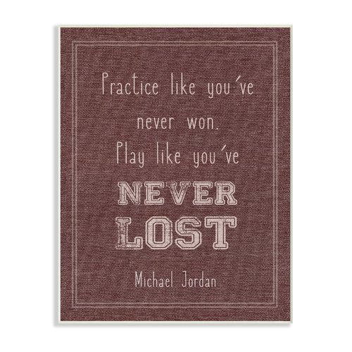 Harriet Bee Play Like You Never Lost Michael Jordan Quote Wall Art