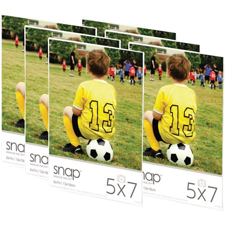 Snap 5x7 Magnetic Acrylic Frame, Set of 6 - Walmart.com