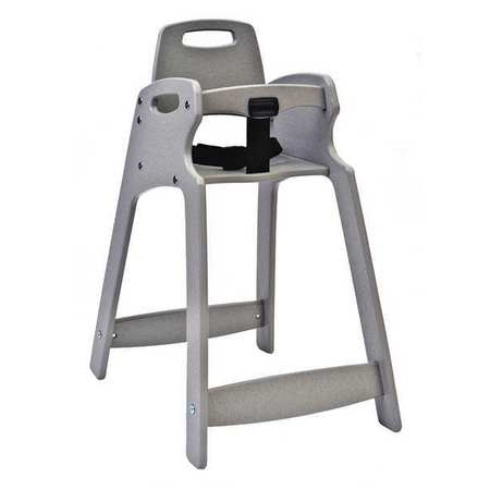 Plastic High Chair, Gray ,Csl Foodservice And Hospitality, 333-GRY