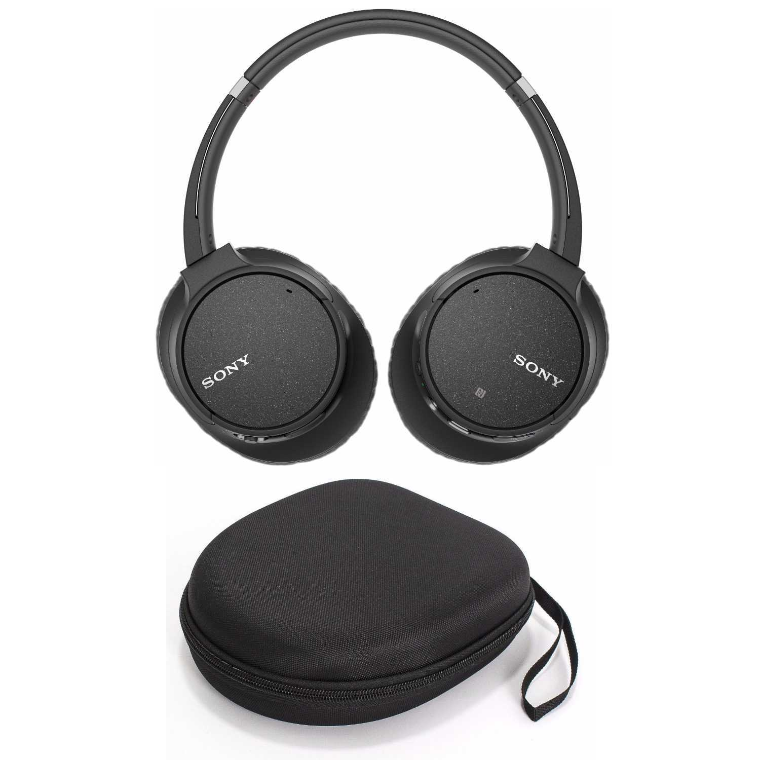 Sony WH-CH700N Wireless Noise Canceling Headphones (Black) + Carrying Case