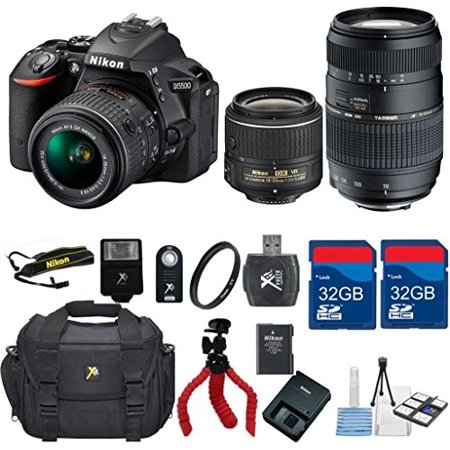 Nikon D5500 Dx Dslr   18 55 Vrlens   Tamron 70 300 Zoom Lens  Top Value Bundle   International Version  No Warranty
