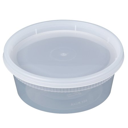 Pactiv 8 oz Newspring YL2508 DELItainer Clear Round Deli Container Combo Pack
