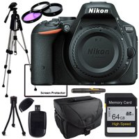 Nikon D5500 Body Only, Full Size Tripod, 64GB SD Card, 3pcs Filter kit, Cleaning Pen, Card Reader, Table Top Tripod, lens Cleaning Kit