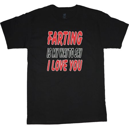 Mens Graphic Tees Funny Fart Farting T-shirt Decked-Out-Duds Mens Clothing