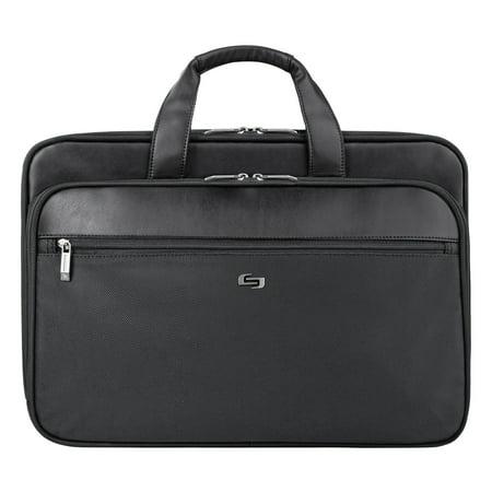 Classic Smart Strap Briefcase, 16, 17 1/2 x 5 1/2 x 12, Black