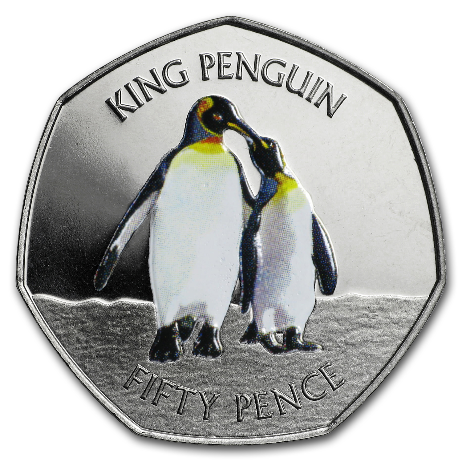 2017 Falkland Islands Cupro-Nickel Penguin Series (The King)