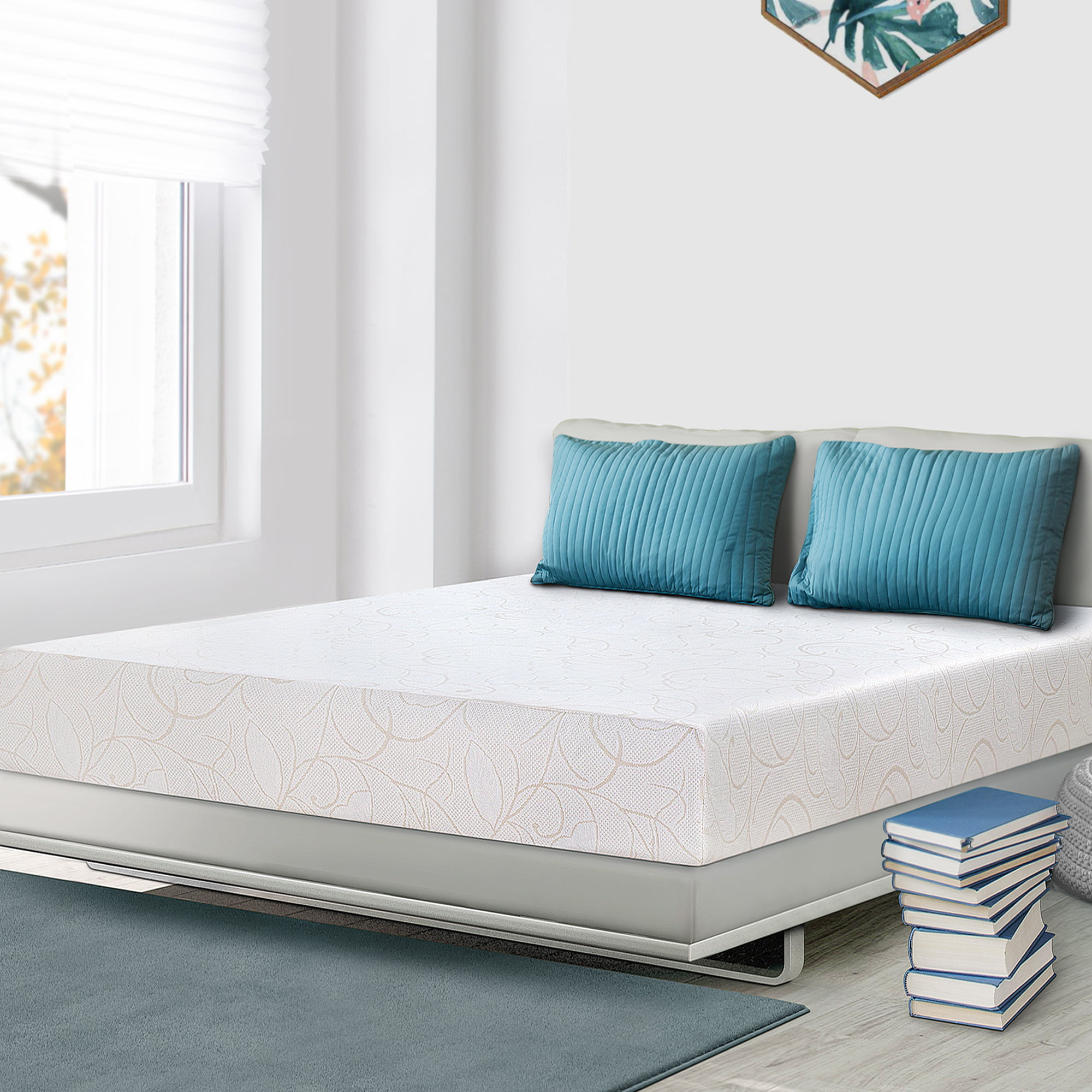 "GranRest 7"" Memory Foam Mattress, Medium Firm, Full - Walmart.com"