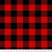 (2 Yards) David Textiles 100% Polyester Anti-Pill Fleece Fabric, Red Buffalo Plaid 60