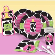 Baby Cow Print Pink Party Pack