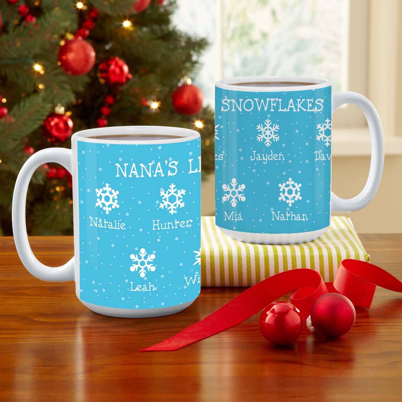 Personalized Little Snowflakes Coffee Mug, 15 oz