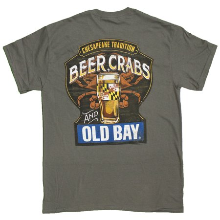 Mens Officially Licensed Old Bay Chesapeake Sign T Shirt