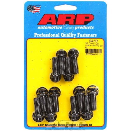 ARP INC. 134-2101 SB CHEVY 12PT INTAKE MANIFOLD BOLT KIT (3/8 SOCKET)