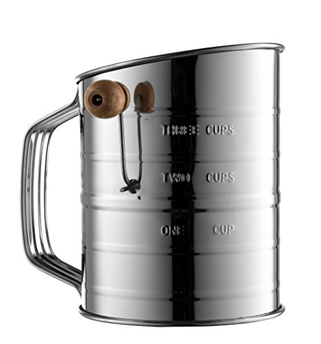 Bellemain Stainless Steel 3 Cup Flour Sifter by