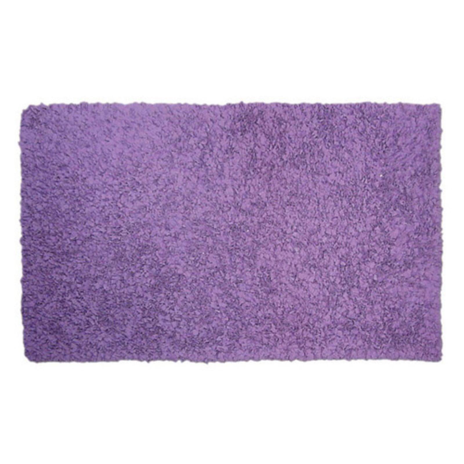 The Rug Market Shaggy Raggy Purple Area Rug, Size 2.8' x 4.8'