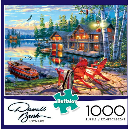 1000-Piece Darrell Bush: Loon Lake Puzzle