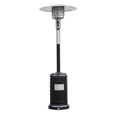 Goplus Stylish Standing Patio Heater w/ Accessories Black