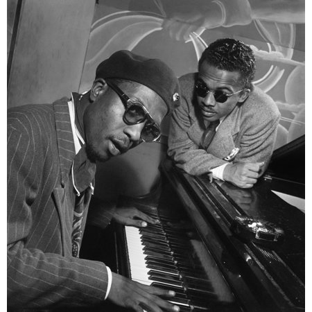 Thelonious Monk N(1917-1982) American Composer And Pianist With Howard Mcghee At MintonS Playhouse In New York City Photograph By William P Gottlieb C1947 Poster Print by Granger Collection