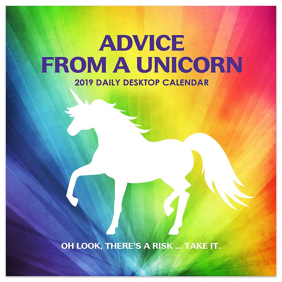 "2019 Advice from a Unicorn 5.5"" x 5.5"" January 2019-December 2019 Daily Desktop Calendar by TF Publishing"