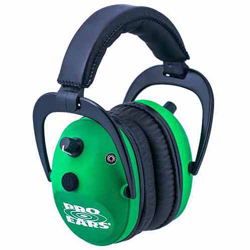 Pro Ears Electronic Hearing Protection Predator Gold, NRR 26, Neon, Green
